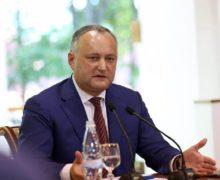 Додон назвал «политической глупостью» решение правительства объявить Рогозина персоной нон грата