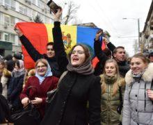 Протест без масс. В Кишиневе митинговали недовольные итогами выборов