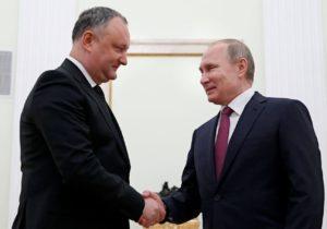 «Рассчитываем, что народ Молдовы оценит это навыборах». Путин обусилиях Додона посближению сРоссией