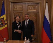 «Накопилось много вопросов». Гречаная встретилась в Москве с председателем Госдумы России