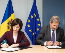 Молдова получит от ЕС €40,25 млн. Майя Санду и Йоханнес Хан подписали три договора о финансовой поддержке