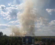 На окраине Кишинева горят поля