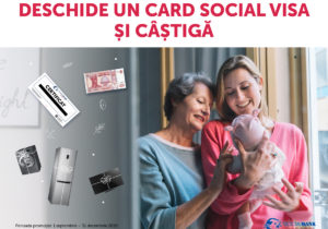 Ia-ți un card social Visa  de la Victoriabank și câștigă