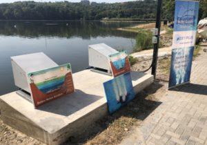 В озере в парке Valea Morilor установили аппараты для очистки иобогащения воды кислородом