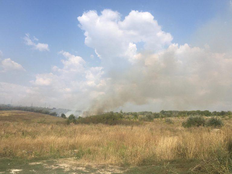 ВКишиневе вновь горят поля. Огонь распространился на десятки гектаров