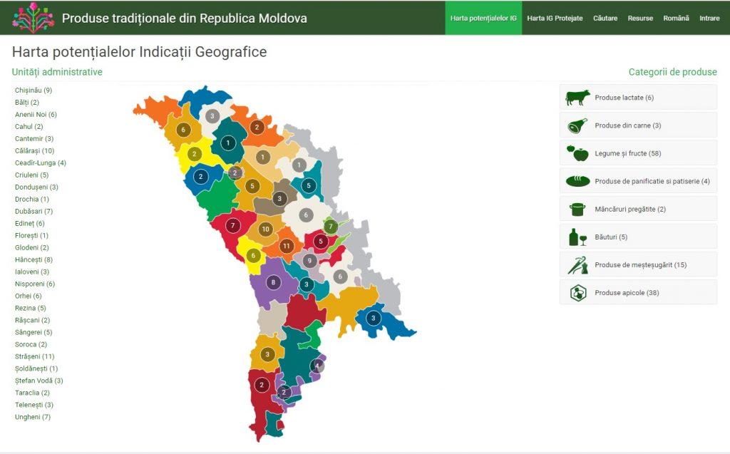 В Молдове создали онлайн карту традиционных товаров и продуктов питания
