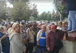 Партия «Шор» устроила акцию протеста против задержания Апостоловой и Таубер