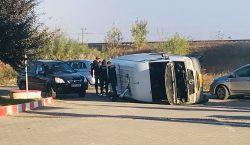 ДТП на маршруте Страшены-Кишинев: Пассажирский микроавтобус столкнулся с легковым автомобилем,…