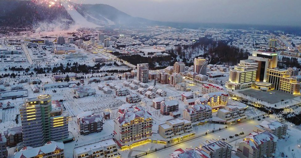 """FOTO """"Etalon al civilizației moderne"""". Cum arată cel mai nou oraș din Coreea de Nord"""