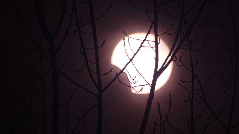 Встранах Азии наблюдали кольцеобразное солнечное затмение. Фоторепортаж