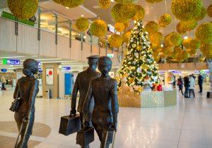 Аэропорт Кишинэу накануне Нового года превратили в сказку!