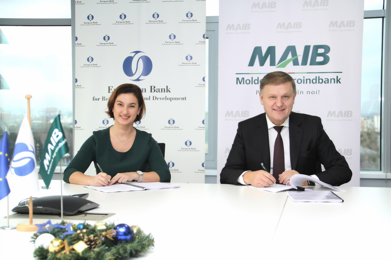 Un nou acord de finanțare semnat de BERD și MAIB pentru creșterea calității, competitivității și facilitarea accesului pe piața UE a IMM-urilor