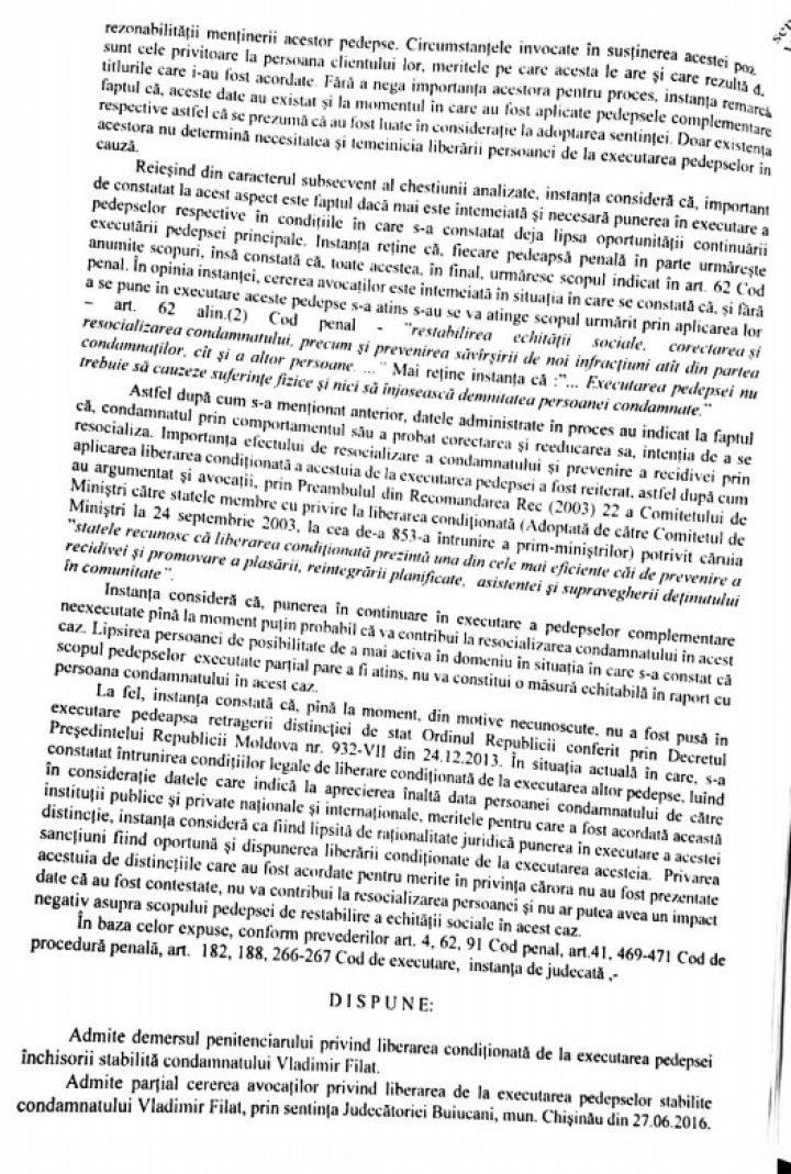 DOC Va putea ocupa funcții publice și își păstrează Ordinul Republicii. Ce prevede documentul prin care este eliberat Vlad Filat