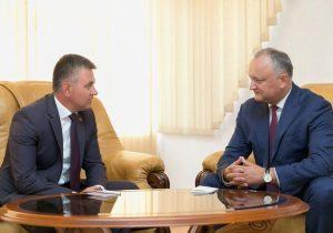 """Dodon a discutat cu Krasnoselskii și caută soluții pentru """"evitarea unei situații de criză"""""""