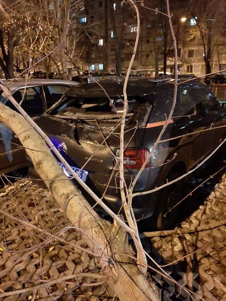 FOTO/VIDEO 39 de localități au rămas fără energie electrică, din cauza vântului puternic, iar un camion a ajuns într-un șanț