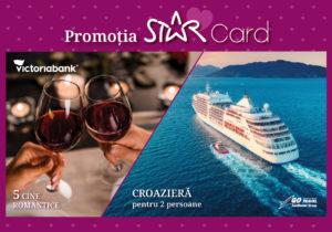 Выиграй романтический ужин или круизное путешествие скартой Star отVictoriabank!