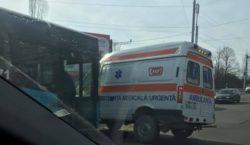 ВКишиневе автобус столкнулся смашиной скорой помощи. Есть пострадавшие