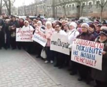 «Хватит издеваться над пенсионерами». Партия «Шор» провела протест у офиса ПСРМ в Кишиневе