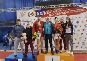 Sportivii moldoveni au cucerit trei medalii la turneul de sambo din Belarus