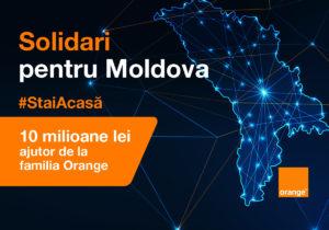 #Солидарны ради Молдовы. 10 миллионов леев в помощь от семьи ORANGE