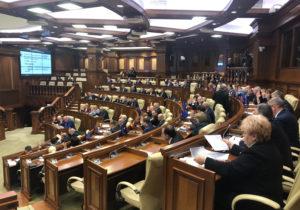 ВМолдове депутаты отоппозиции собрались назаседание парламента