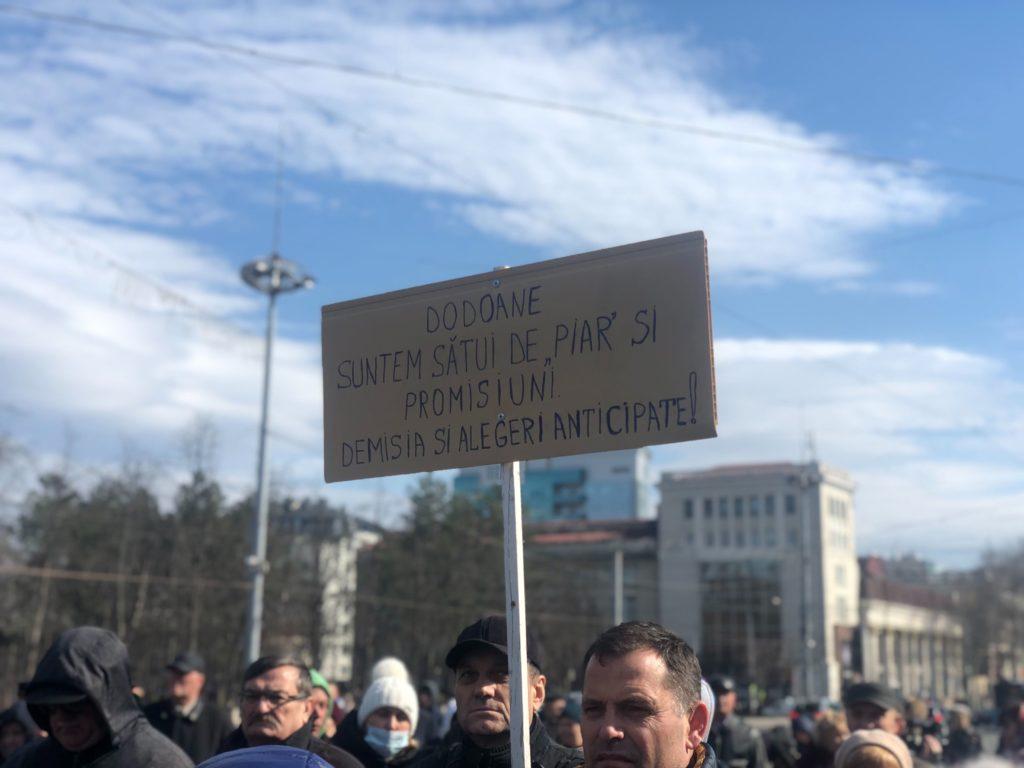 «Мы не расисты. Если придет негр, который знает язык, мы его не выгоним». Как в Кишиневе протестовали против Додона. Репортаж NM