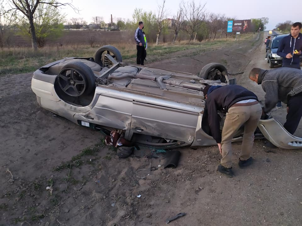 На Балканском шоссе столкнулись два автомобиля. (ФОТО)