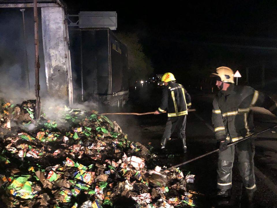 ВМолдове загорелась фура спартией семечек изУкраины (ФОТО)