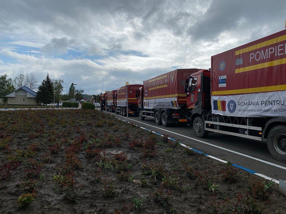 ИзРумынии вМолдову прибыли 20грузовиков сгуманитарной помощью (ВИДЕО, ФОТО)