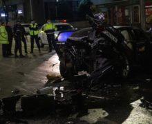 Водителя Audi, протаранившего такси в Кишиневе, задержали. Причиной аварии могла быть нелегальная гонка (ВИДЕО)