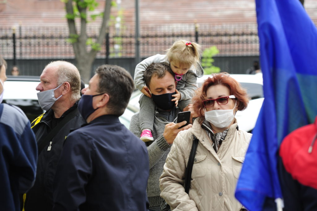 Как прошел протест ветеранов в Кишиневе. Фоторепортаж NM