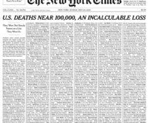 """«Алан Лунд, 81 год, Вашингтон, дирижер с """"самым удивительным слухом""""». New York Times опубликовала тысячу имен умерших от COVID-19"""