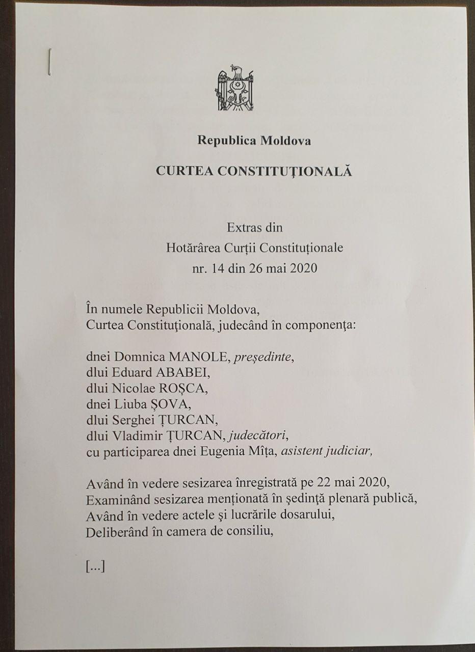 DOC Un nou deputat în fracțiunea PSRM din parlament. Curtea Constituțională a validat mandatul
