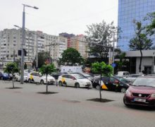 Водители такси в Кишиневе провели акцию в память о погибшем в ночной аварии коллеге (ВИДЕО)