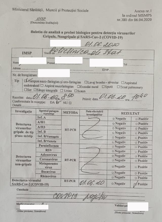 UPDATE Cine, totuși, minte? Alexandr Slusari a publicat rezultatul analizelor angajatului parlamentului depistat fals cu COVID-19