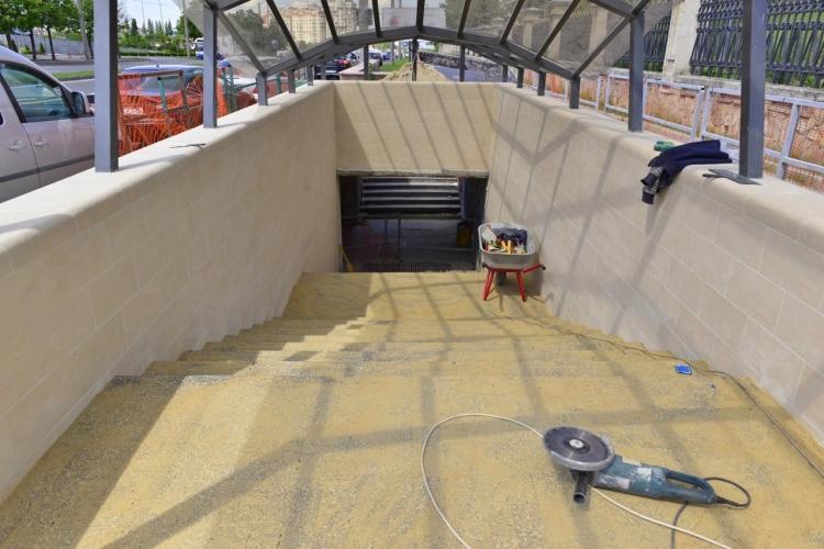 FOTO Lucrările de reparație a subteranei de la Viaduct sunt executate în proporție de 40 la sută