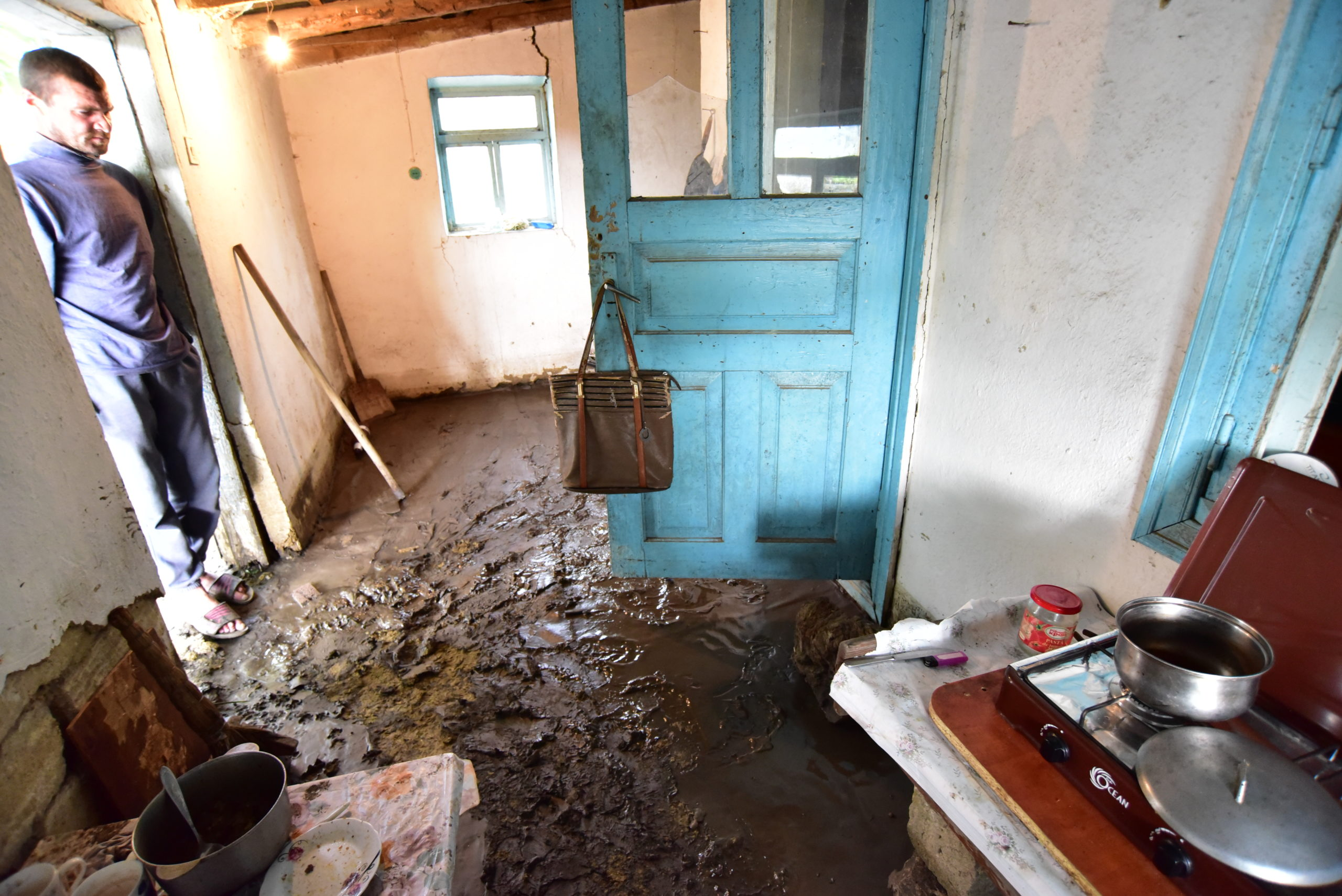 satul Hansca inundație