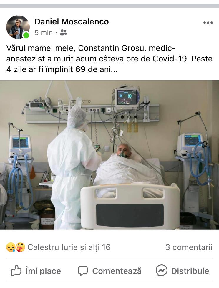 ВМолдове еще один врач умер отосложнений, вызванных COVID-19