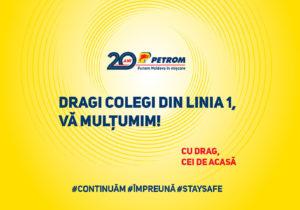 Petrom Moldova, aplauze pentru colegii din prima linie