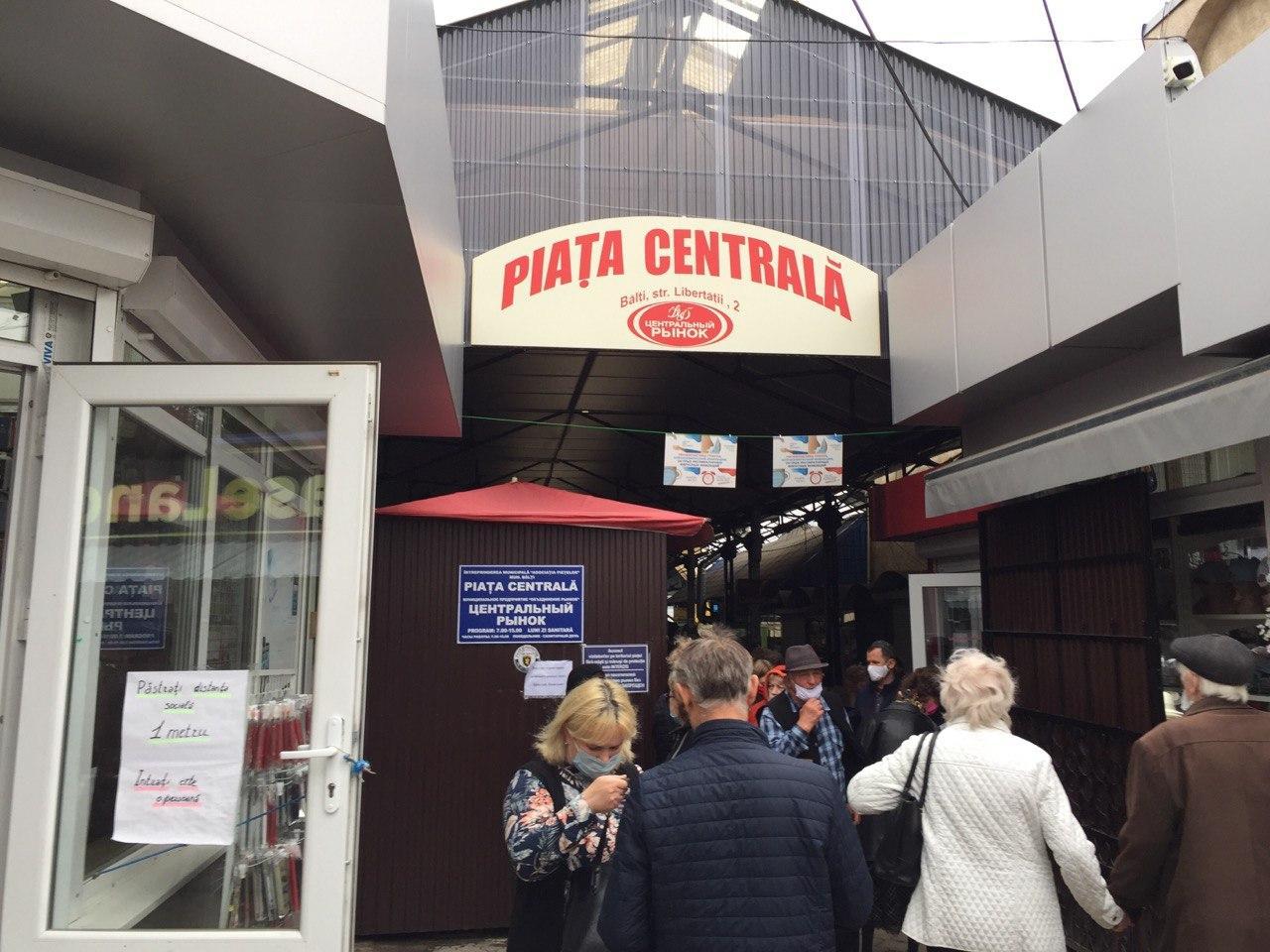 piața centrală Bălți