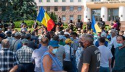protestul veteranilor lângă parlament