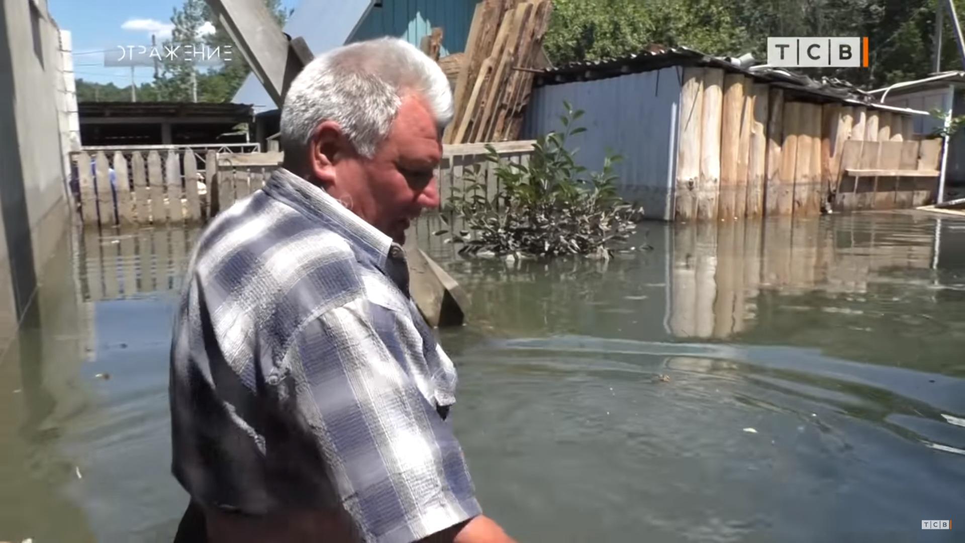 Наводнение вПриднестровье. ВМеренештах затопило дома иогороды (ВИДЕО)