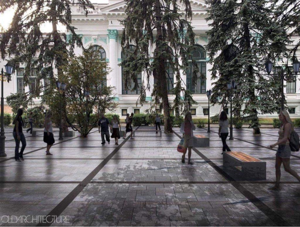 В сквере у театра Еминеску исчезнут газоны? Что сказали в мэрии