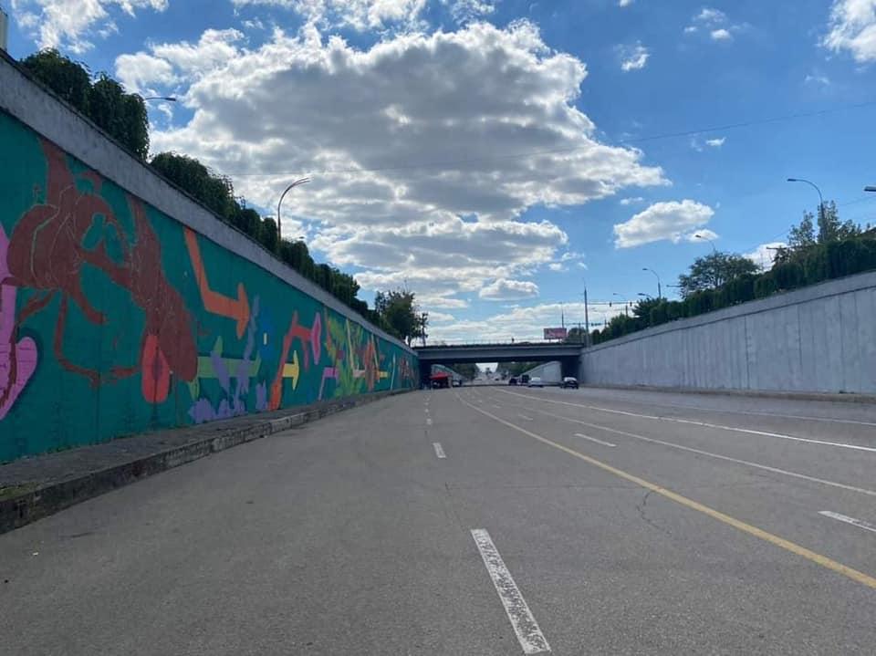 ВКишиневе украсили граффити одну изстен под мостом наТелецентре (ФОТО)