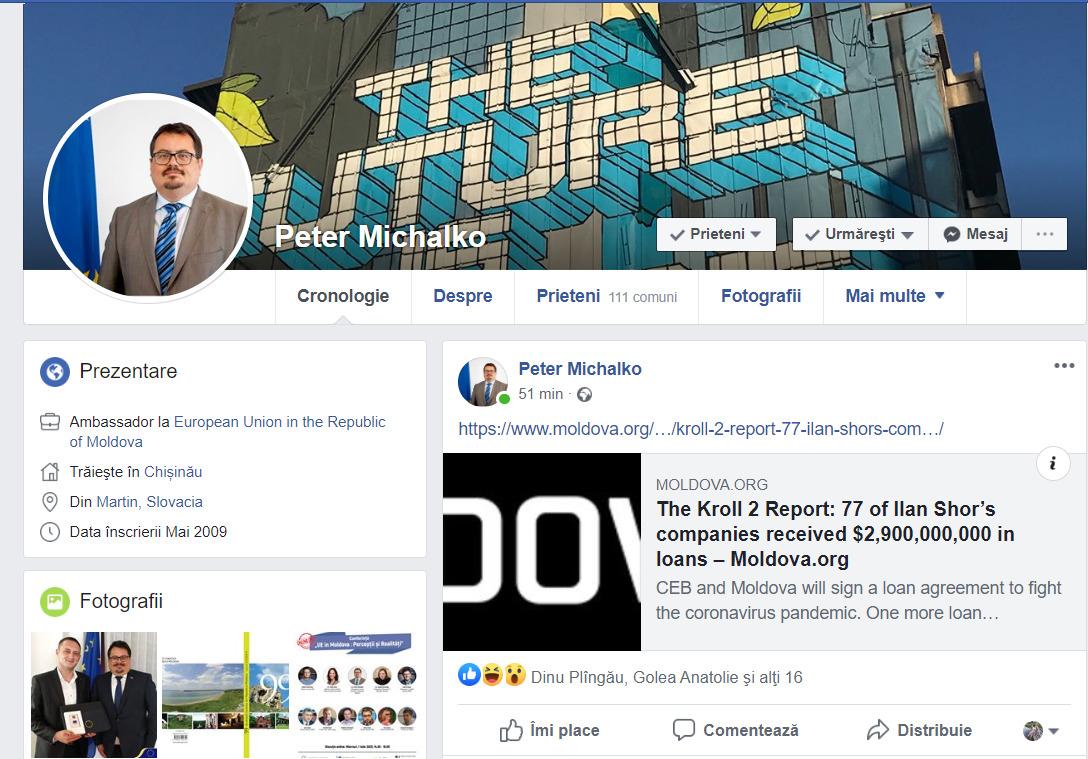 """Ambasadorul Franței, solidar cu Peter Michalko, după protestul deputaților din Partidul """"ȘOR"""""""