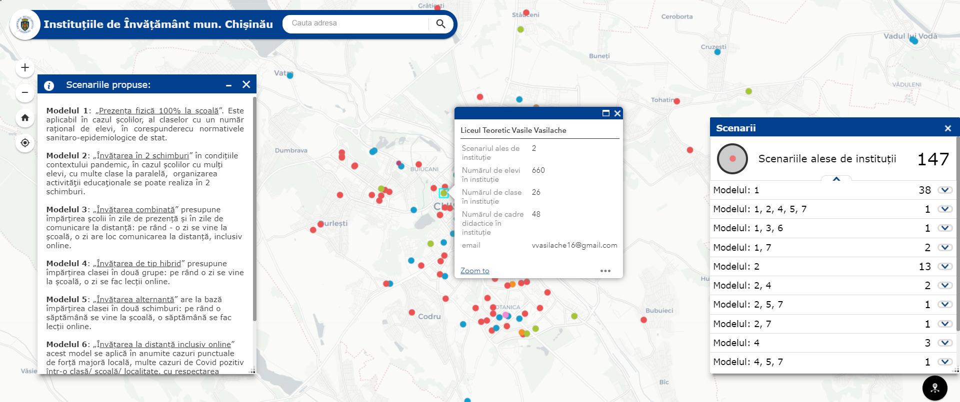 Cum vor funcționa școlile și liceele din municipiul Chișinău? Primăria a creat o HARTĂ ONLINE