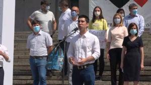 «Скоро и молдавская мамалыга взорвется». Как PAS и ее сторонники протестовали в центре Кишинева