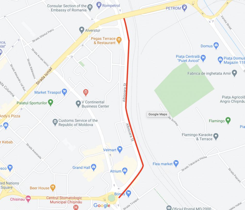 Traficul rutier va fi suspendat timp de trei zile pe o porțiune a străzii Albișoara