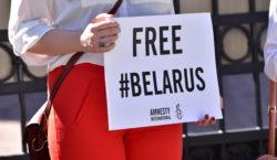 Protest ambasada republicii Belarus