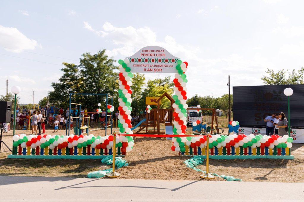 Меньше чем замесяц партия «Шор» построила детские площадки в12 селах